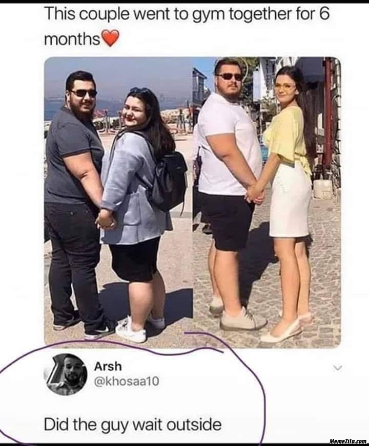 This couple went to gym for 6 months meme