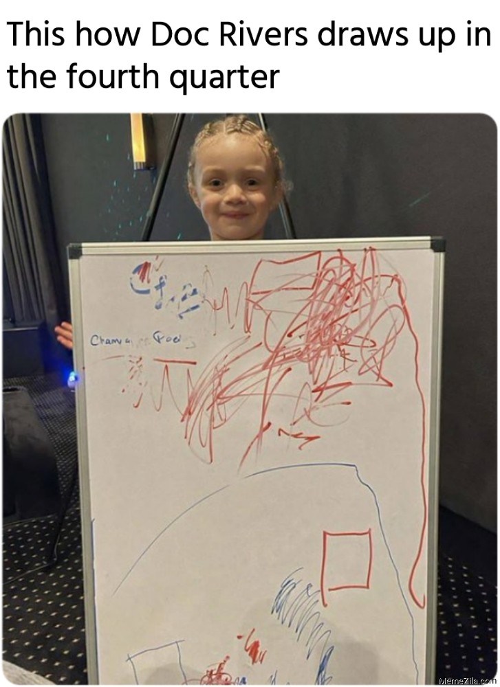 This how Doc Rivers draws up in the fourth quarter meme