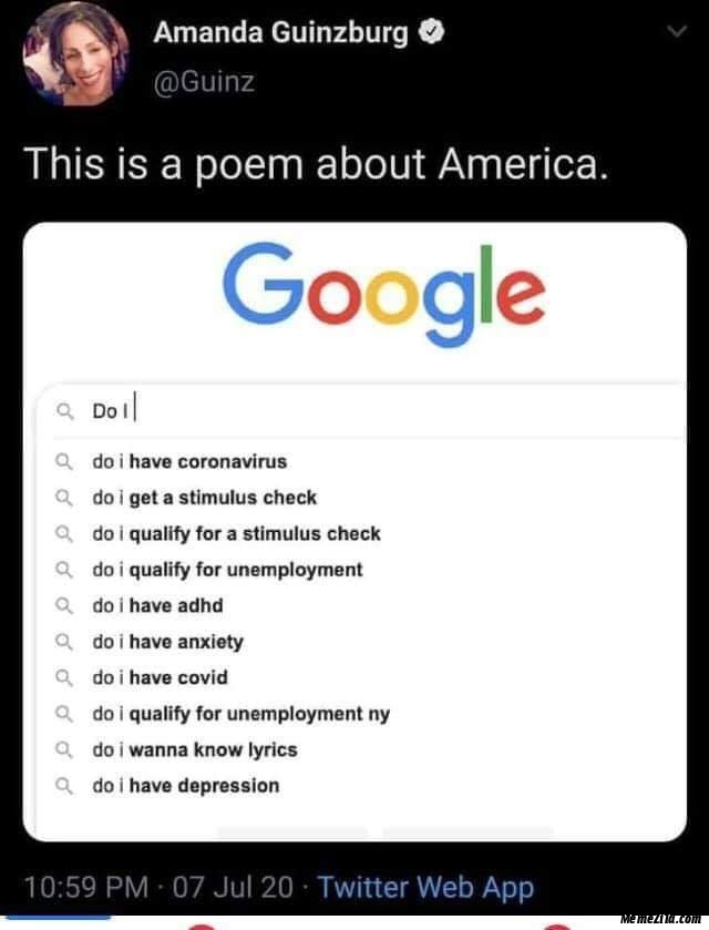 This is a poem about America meme
