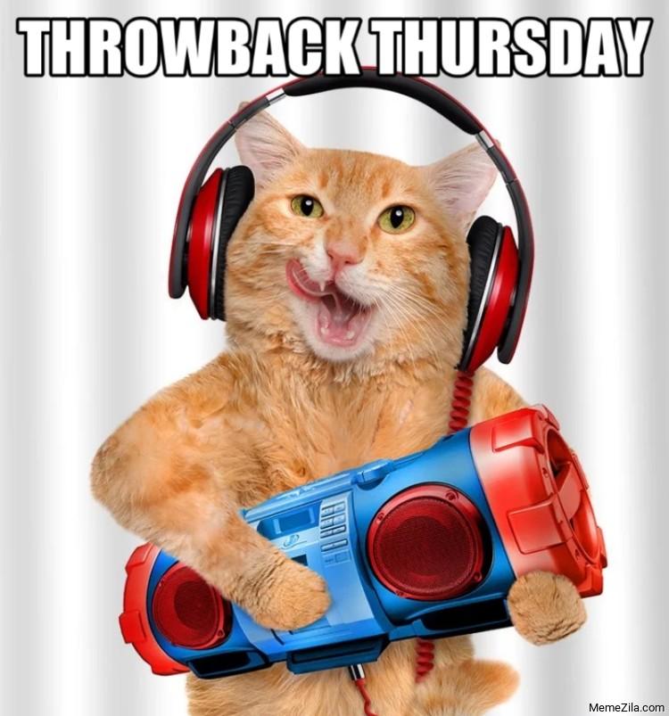 Throwback thursday cat meme