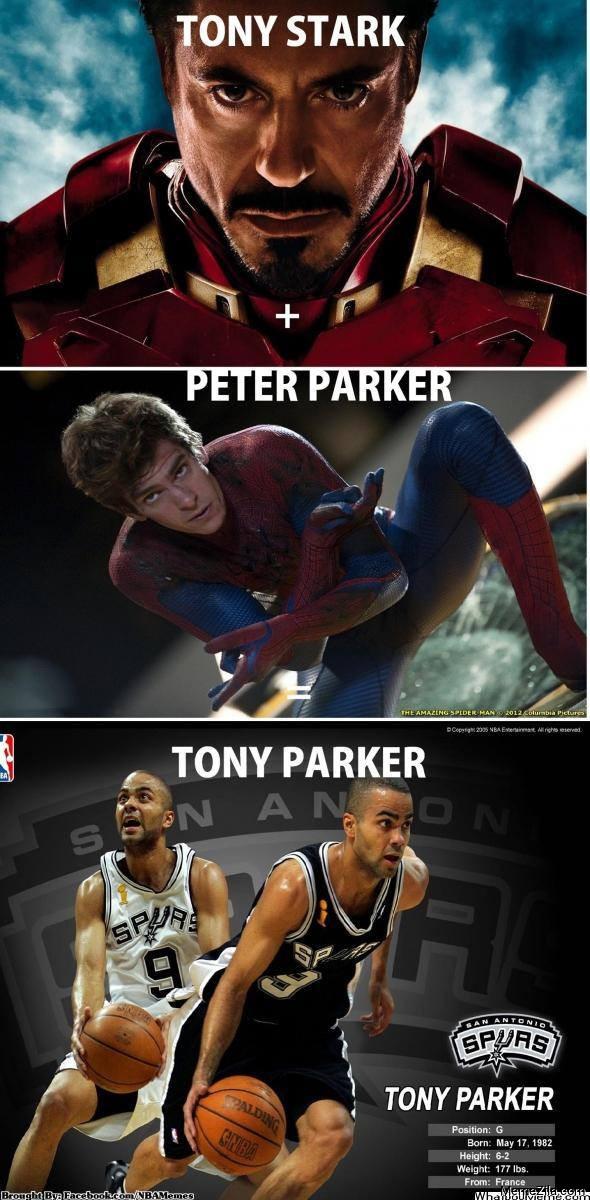 Tony Stark Peter Parker Tony Parker meme