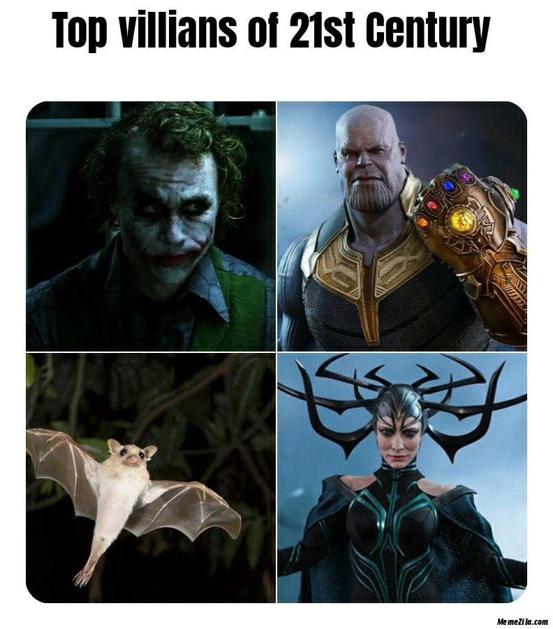 Top villains of 21st century meme