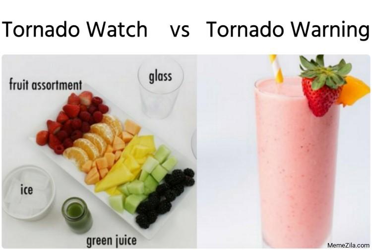Tornado Watch vs Tornado Warning Memes