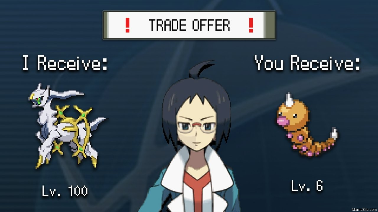 Trade Offer I receive lv 100 You receive lv 6 meme