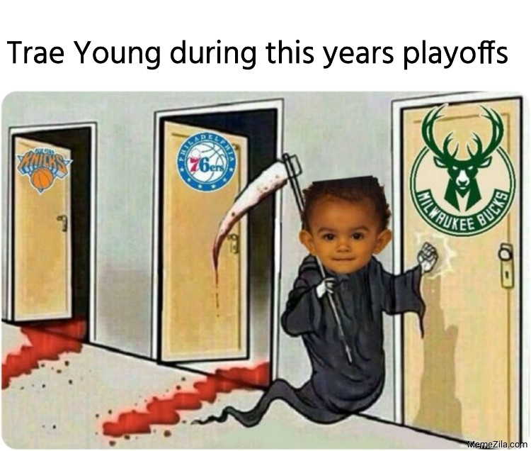 Trae Young during this years playoffs meme