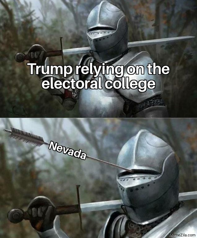 Trump relying on the electoral college Meanwhile Nevada