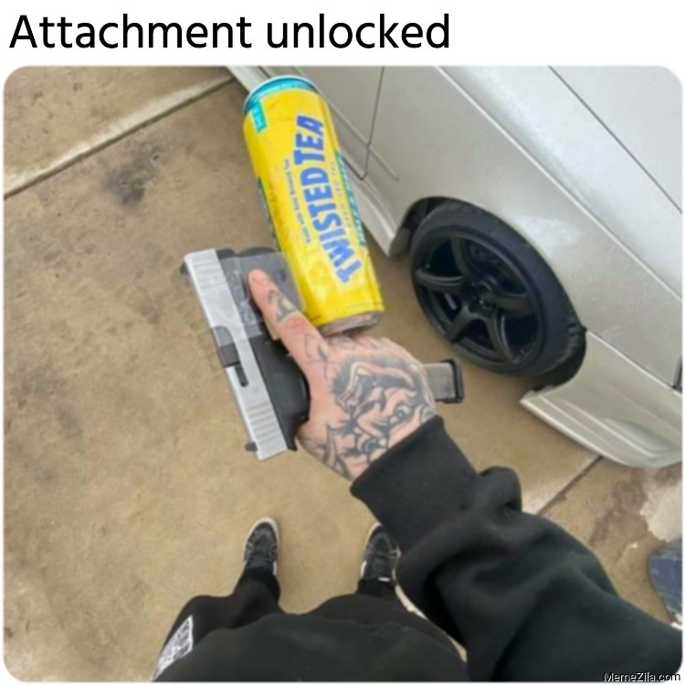 Twisted tea Gun Attachment unlocked meme