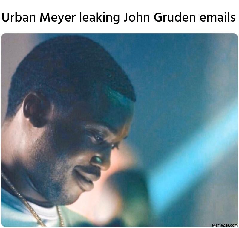 Urban Meyer leaking John Gruden emails meme