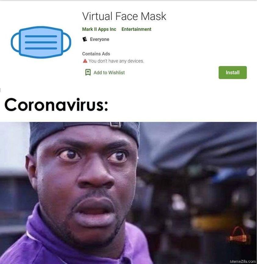 Virtual face mask app meme