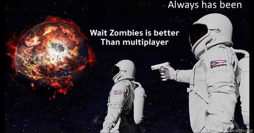 Wait zombies is better than multiplayer Always has been meme