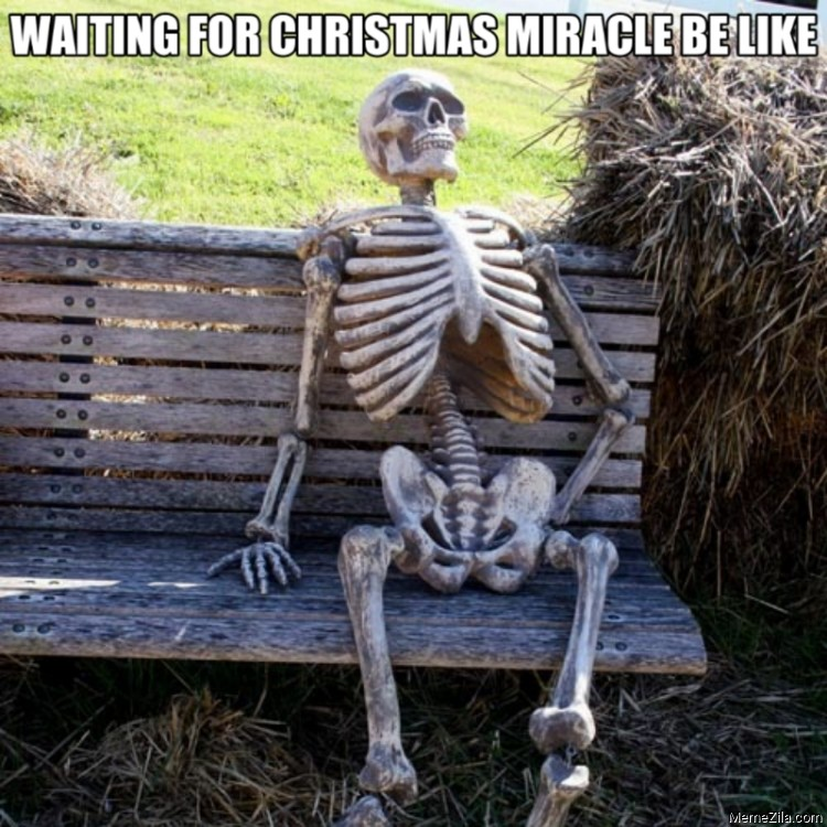 Waiting for christmas miracle be like meme