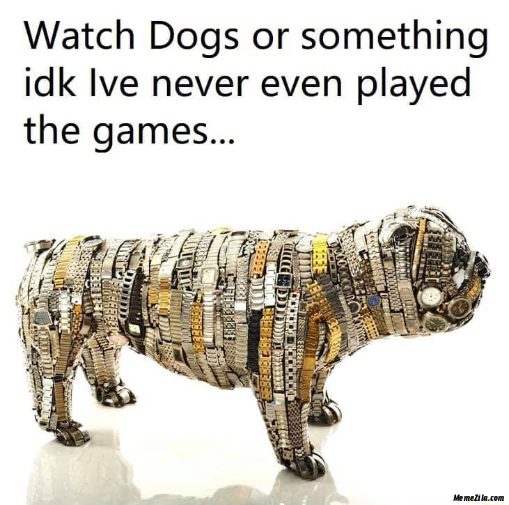 Watch dogs or something idk Ive never played the games meme