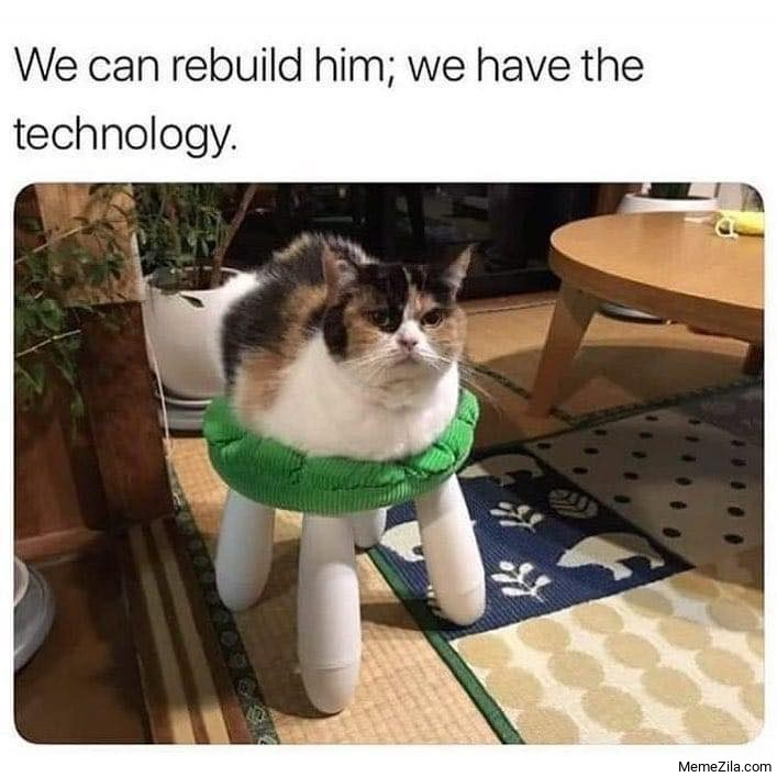 We can rebuild him We have the technology meme