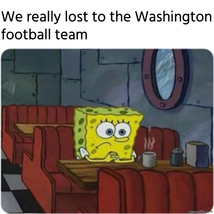 We really lost to the Washington football team meme