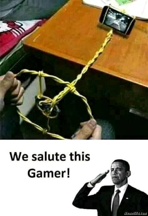 We salute this gamer meme