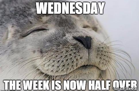Wednesday The week is now half over meme