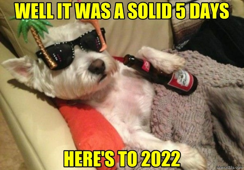 Well it was a solid 5 days Heres to 2022 dog meme