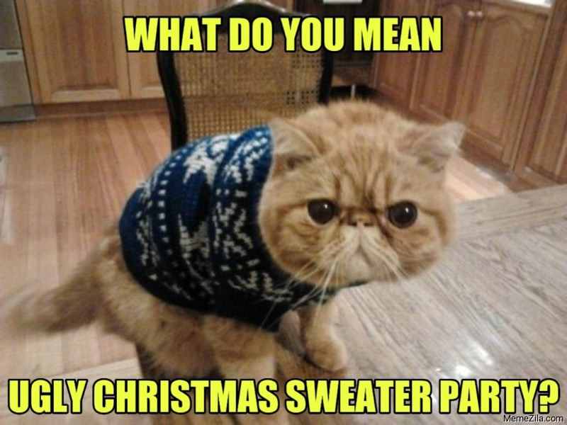 What do you mean Ugly sweater christmas party meme