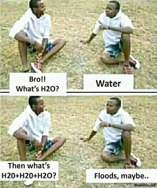 What is H2O + H2O + H2O flood maybe meme