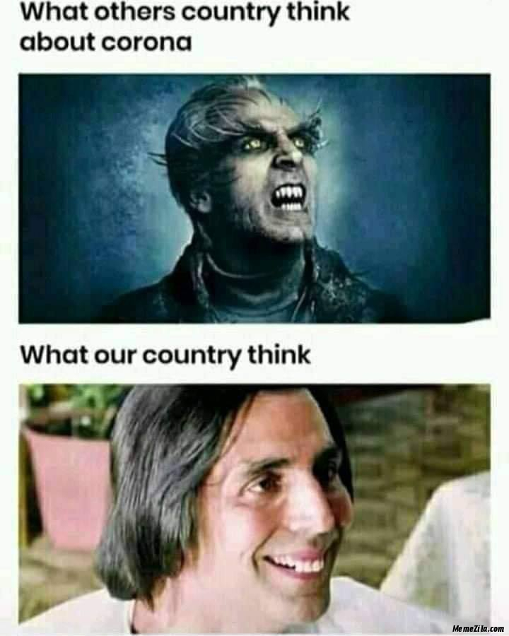 What other country thing about corona vs What our country think meme