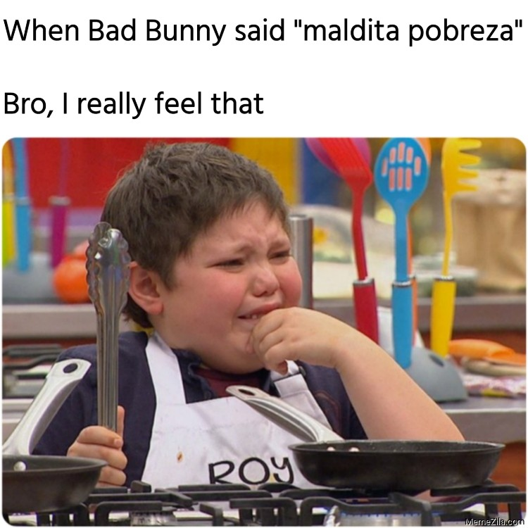 When Bad Bunny said maldita pobreza Bro I really feel that meme