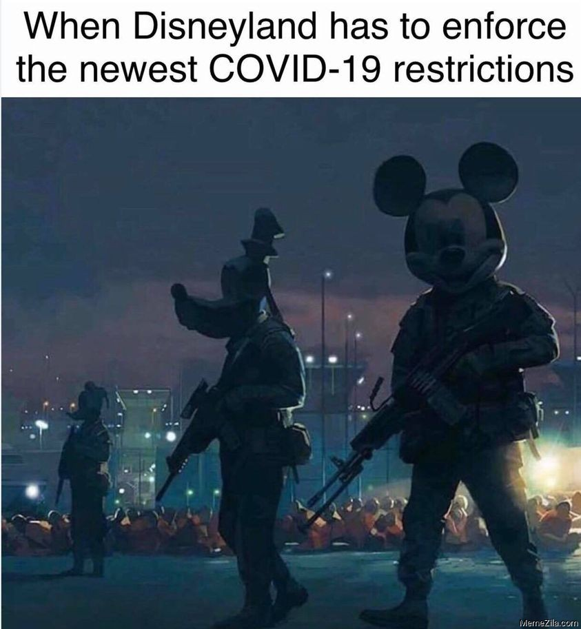 When Disneyland has to enforce the new covid-19 restrictions meme