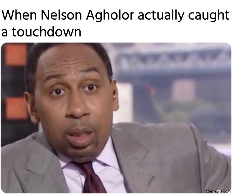 When Nelson Agholor actually caught a touchdown meme