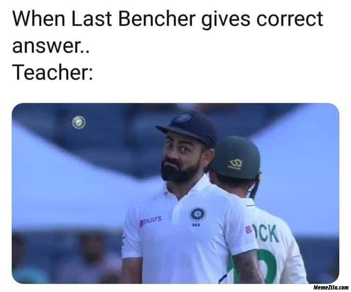 When last bencher give correct answer meme