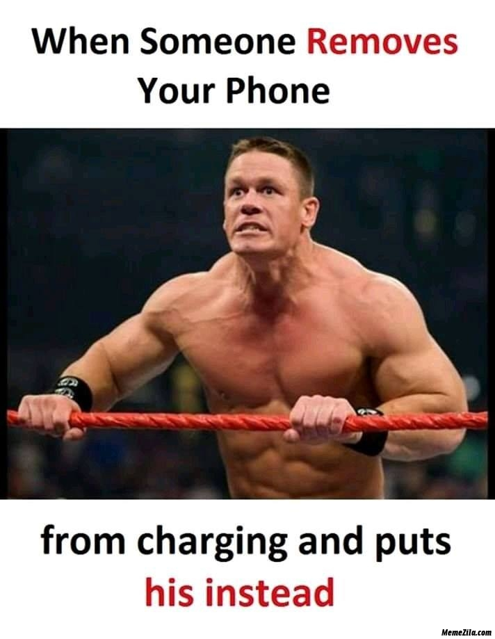 When someone removes your phone from charging and puts his instead meme