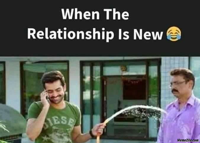 When the relationship is new
