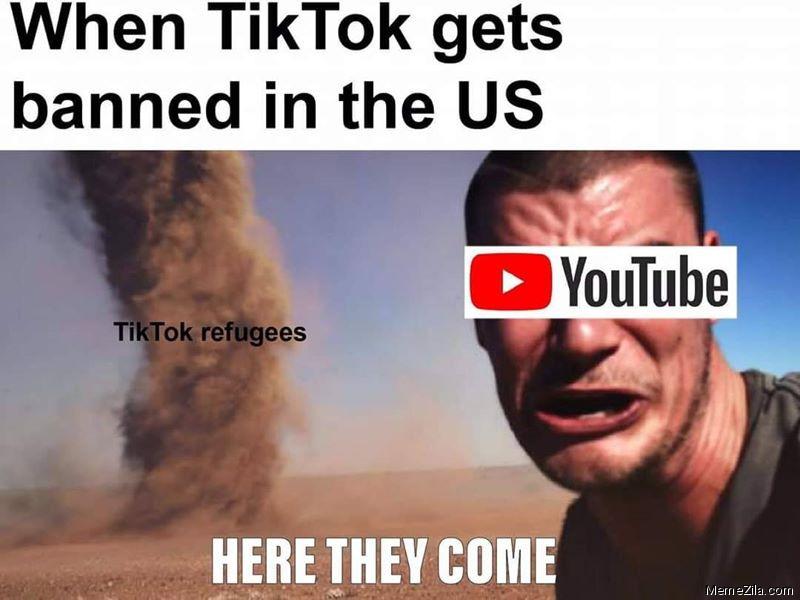 When tiktok gets banned in US meme