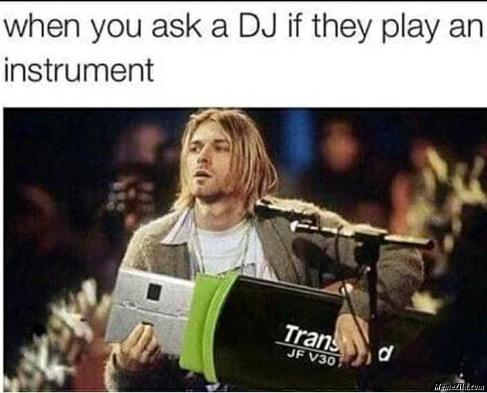When you ask DJ if they play an instrument meme