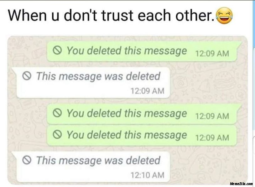 When you dont trust each other meme