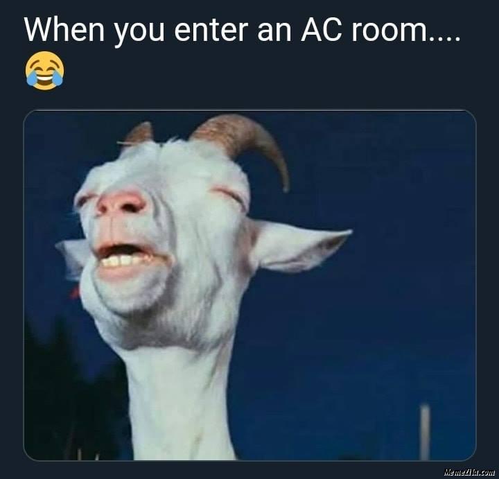 When you enter an AC room meme