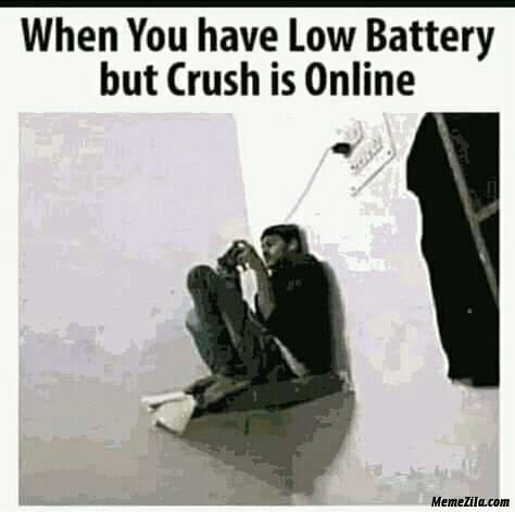 When you have the battery but crush is online meme