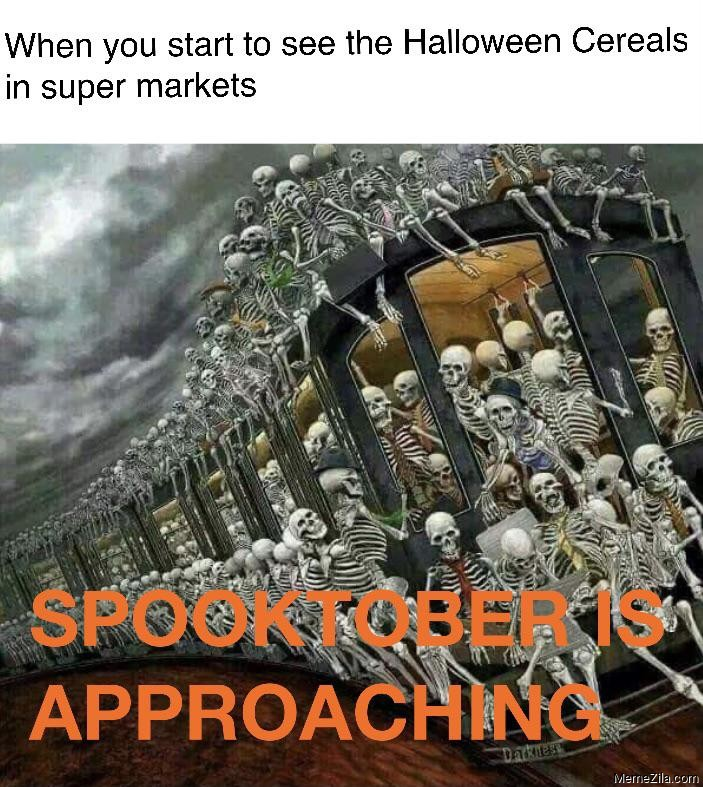 When you start to see then halloween cereals in super markets meme