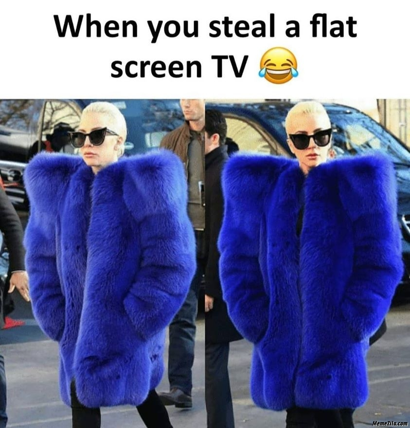 When you steal a flat screen TV meme