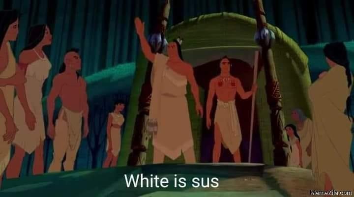 White is sus meme