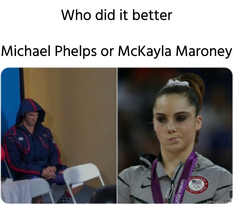 Who did it better Michael Phelps or McKayka Maroney meme