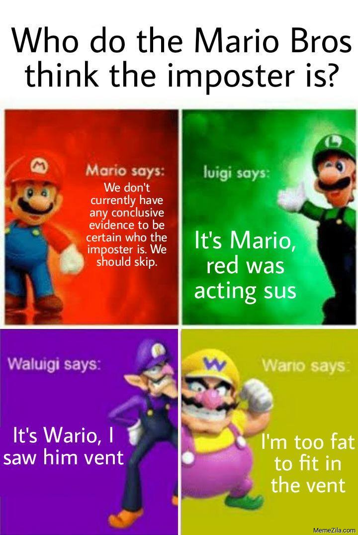 Who do the Mario Bros think is the imposter meme