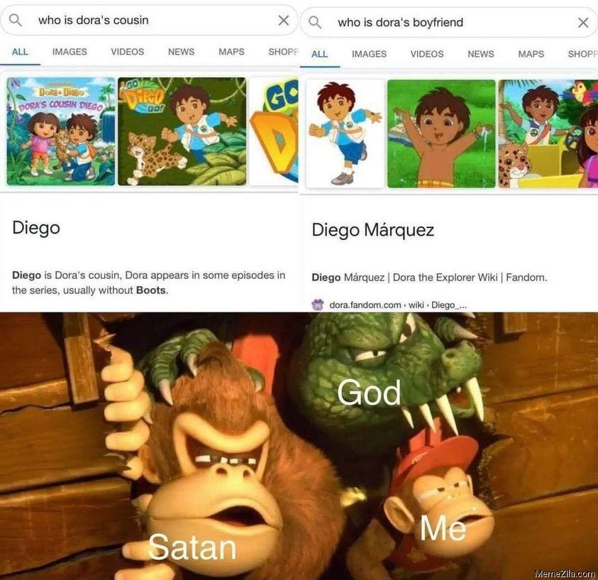 Who is Doras cousin Diego Who is Doras boyfriend Diego Marquez meme