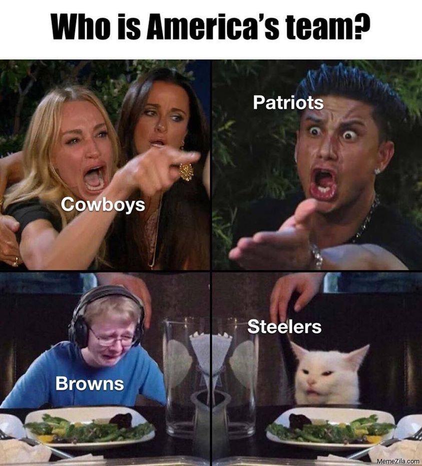 Who is americas team Cowboys Patriots Browns Steelers meme