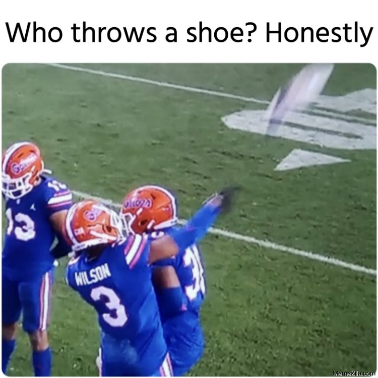 Who throws a shoe Honestly meme