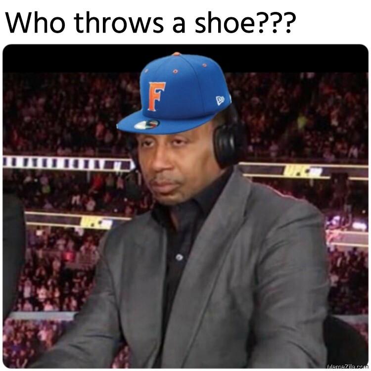 Who throws a shoe meme