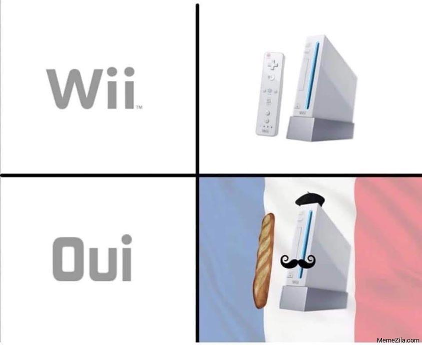 Wii vs Oui meme