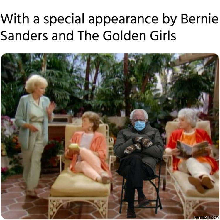 With a special appearance by Bernie Sanders and The Golden Girls meme