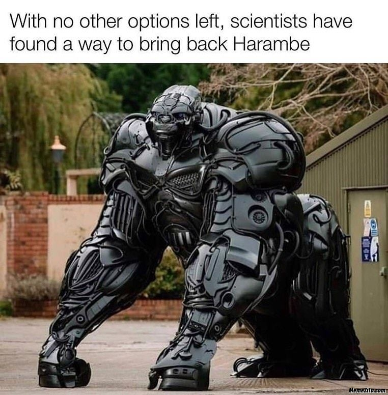 With no other options left Scientist have found a way to bring back harambe meme
