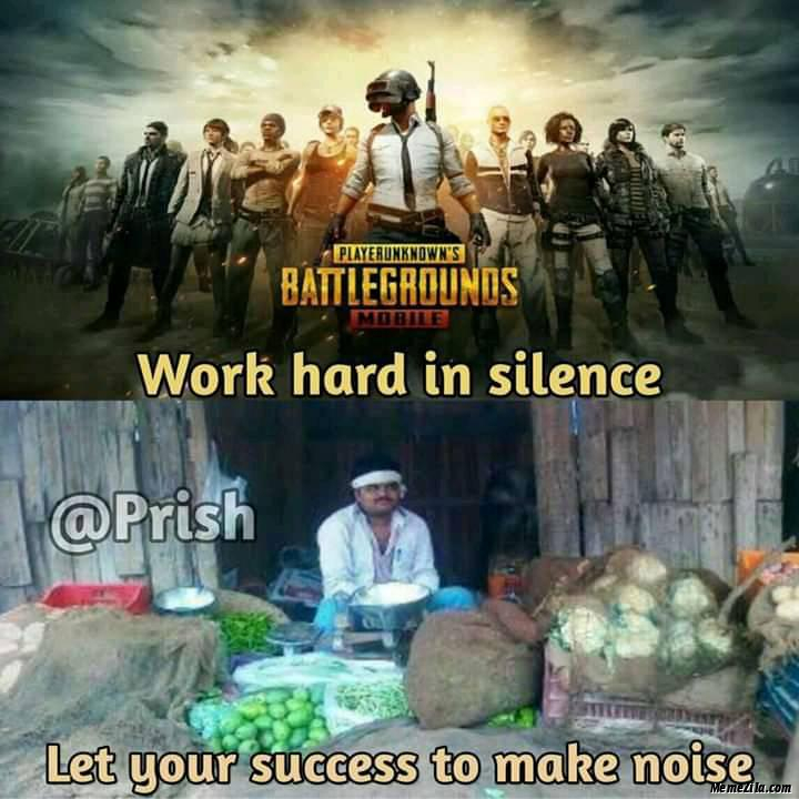 Work hard in Silence Lets your success make noise meme