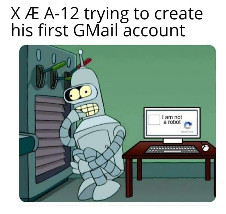 Xæa-12 trying to create his first gmail account meme