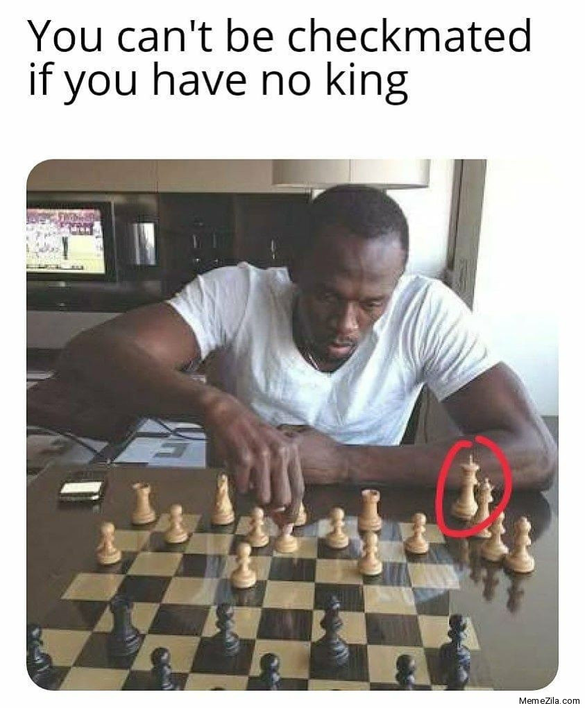 You cant be checkmated if you have no king meme